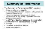 summary of performance45