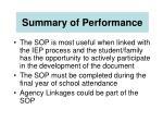 summary of performance46