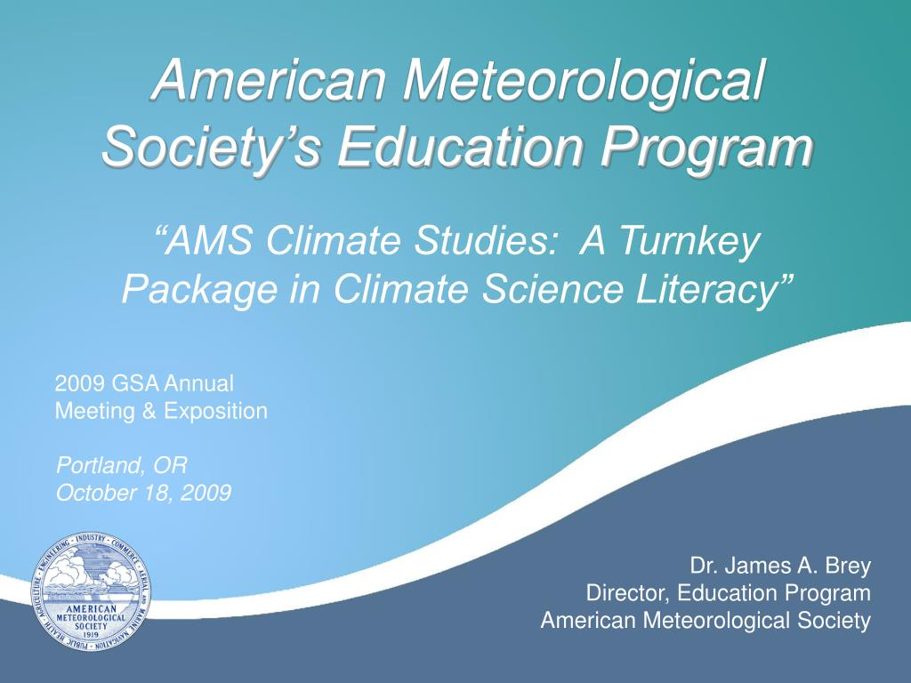 american meteorological society s education program l.