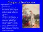 critiques of development