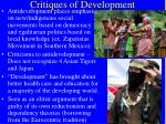 critiques of development10