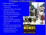 critiques of development9
