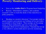 poverty monitoring and delivery