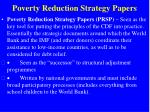 poverty reduction strategy papers