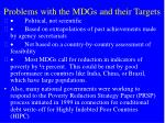 problems with the mdgs and their targets