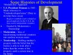 some histories of development