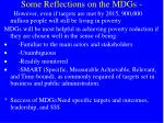 some reflections on the mdgs