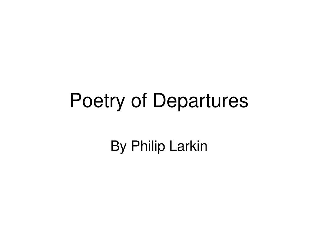 poetry of departures l.