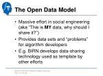 the open data model