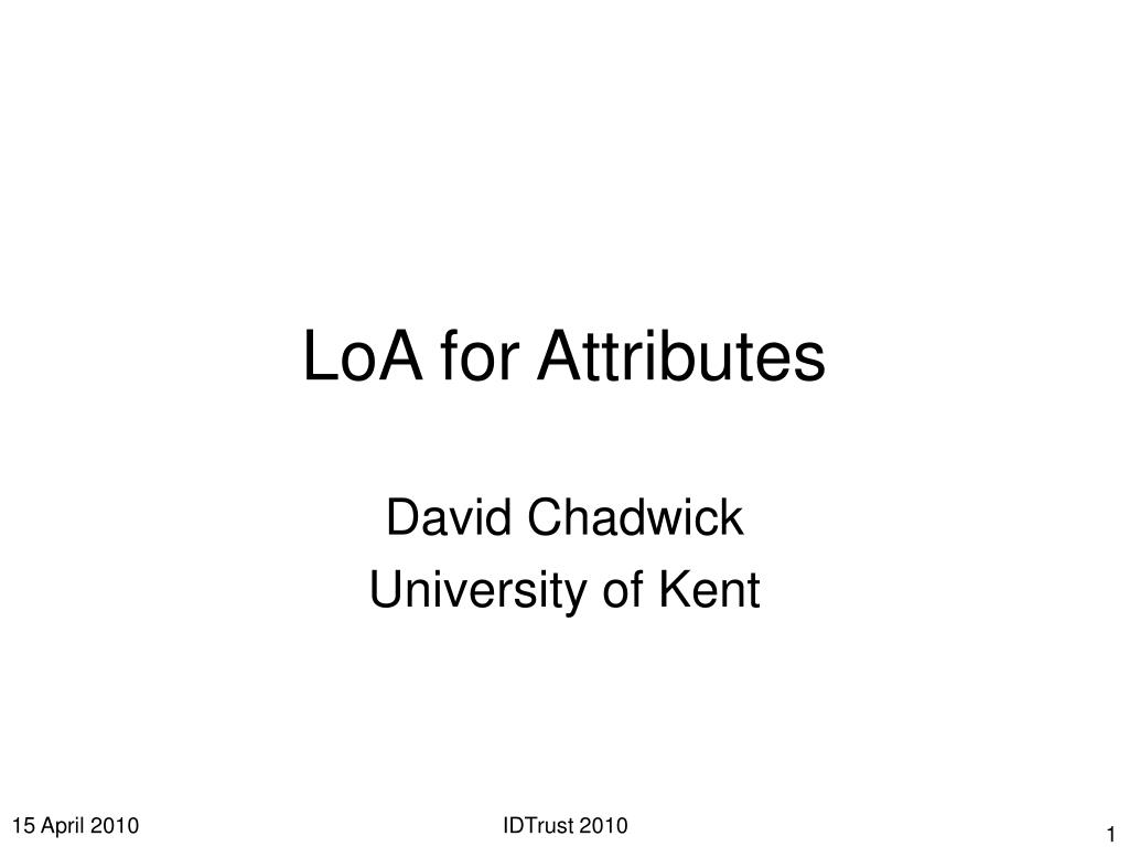 loa for attributes l.