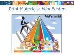 print materials mini poster