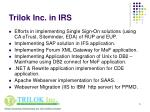 trilok inc in irs