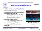 blocking interference