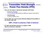 transmitter field strength power flux density pfd