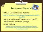 resources general