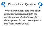 plenary panel question