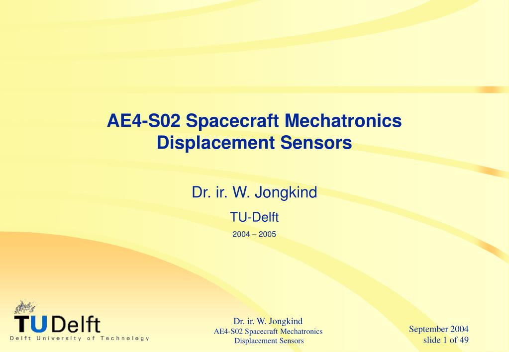 ae4 s02 spacecraft mechatronics displacement sensors l.