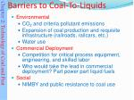 barriers to coal to liquids13