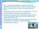 integrated gasification combined cycle