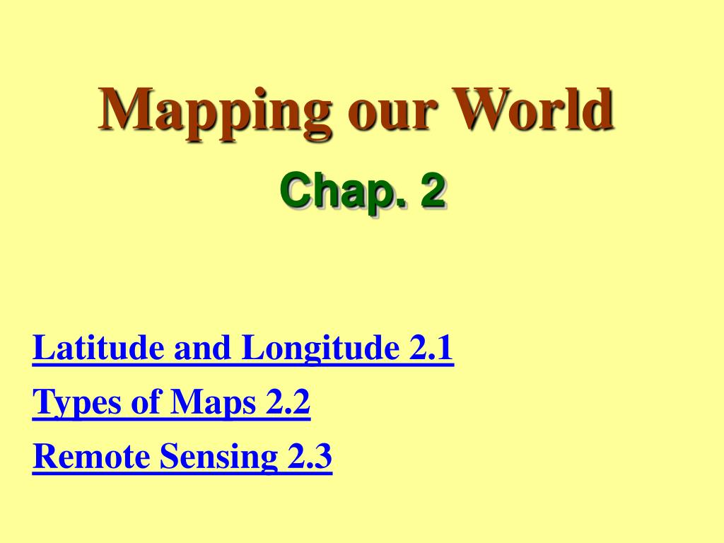 mapping our world l.