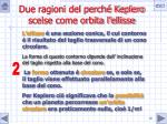 due ragioni del perch keplero scelse come orbita l ellisse19