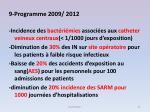 9 programme 2009 2012