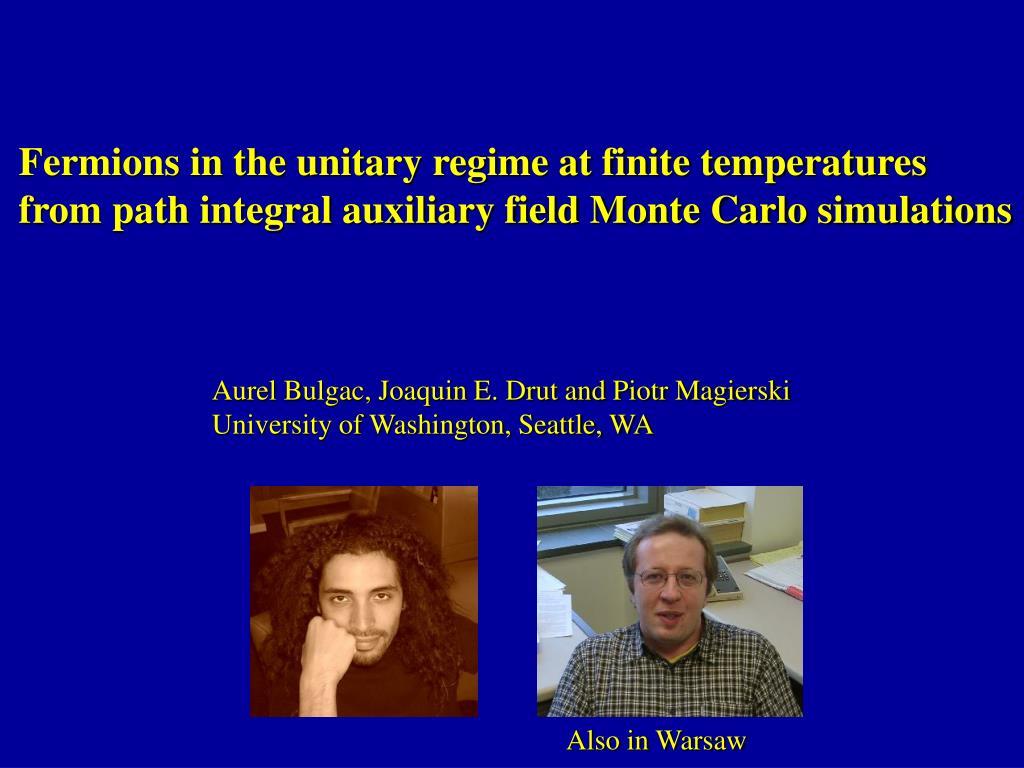 Fermions in the unitary regime at finite temperatures