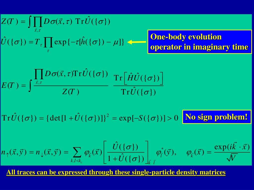 One-body evolution