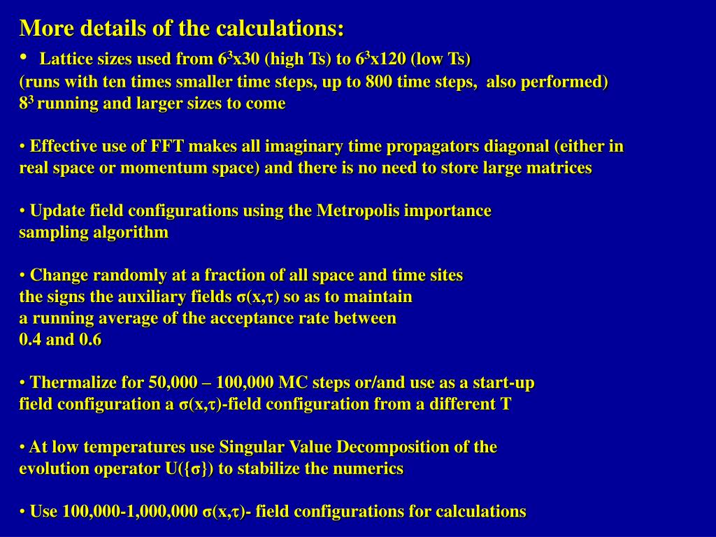 More details of the calculations: