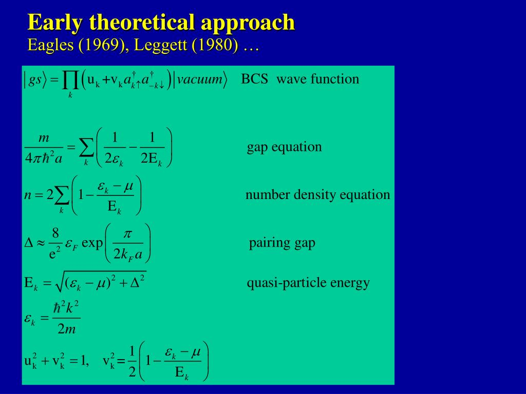 Early theoretical approach