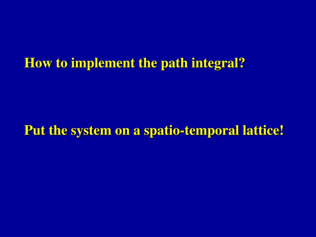 How to implement the path integral?