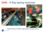 saw x ray testing machines