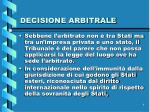 decisione arbitrale