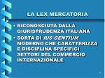 la lex mercatoria