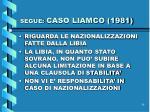 segue caso liamco 1981