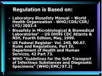 regulation is based on