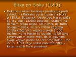 bitka pri sisku 1593