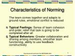 characteristics of norming