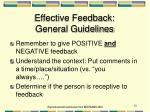 effective feedback general guidelines