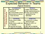 expected behavior in teams typical answers
