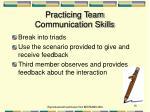 practicing team communication skills
