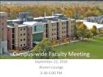campus wide faculty meeting