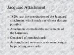 jacquard attachment