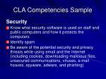 cla competencies sample