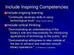include inspiring competencies