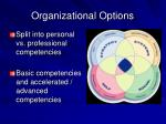 organizational options