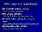 other good tech competencies