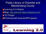 public library of charlotte and mecklenberg county