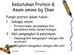 kebutuhan protein asam amino bg ikan