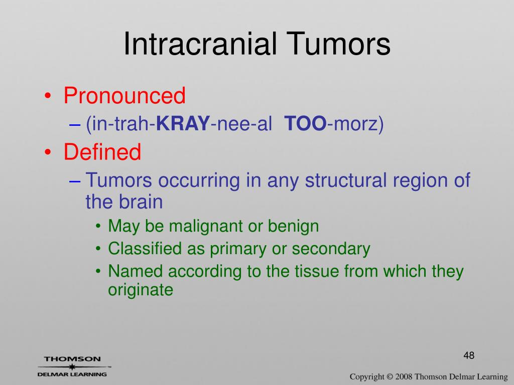 Intracranial Tumors
